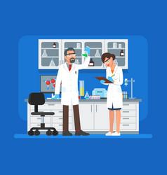 Scientists working vector