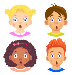Set girls and boy character vector