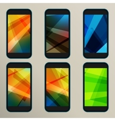 Set of abstract savers for screens vector image