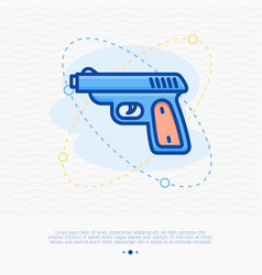 Shooter game thin line icon vector
