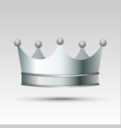 silver crown vector image