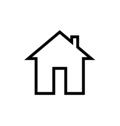 simple linear house icon on white isolated vector image