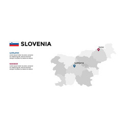 slovenia map infographic template slide vector image