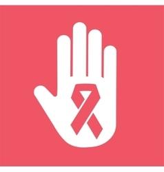 Stop cancer medical logo icon concept vector