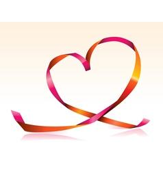 Streamer heart vector