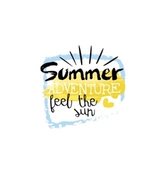 Summer Adventure Message Watercolor Stylized Label vector