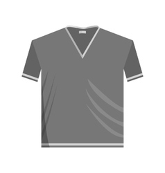 T-shirt icon black monochrome style vector image