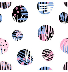 textured circles pattern vector image