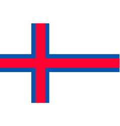 The faroe islands national flag vector