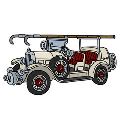 The vintage fire truck vector