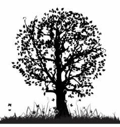 tree silhouette vector image