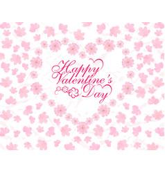 valentine s day card congratulatory inscription vector image