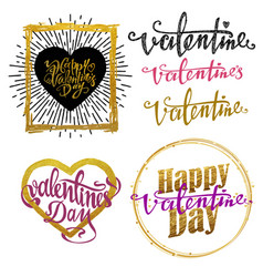 valentines day set - labels emblems and other vector image