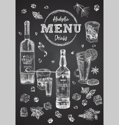 Vintage hand drawn sketch design bar restaurant vector