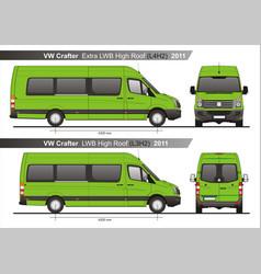 Volkswagen crafter passenger bus l4h2l3h2 2011 vector