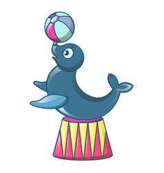 walrus at circus icon cartoon style vector image