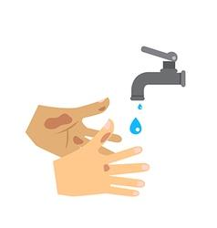 wash hand vector image