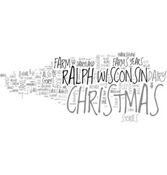 whatever happened to christmas text word cloud vector image