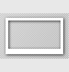 white photo frame for social media with white vector image