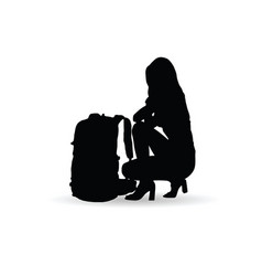 Woman sensual silhouette llustration vector