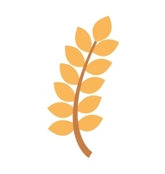 Wreath leafs gluten icon vector