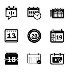 Yearbook icons set simple style vector