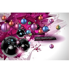 2015 New Years Party Flyer design for nigh clubs vector image vector image