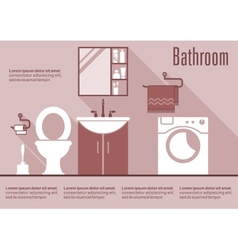 Bathroom flat design interior vector image