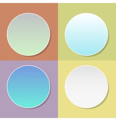 blank badge template with shadow - four colo vector image