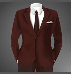elegant man suit vector image vector image
