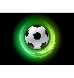 football neon light dark green vector image vector image
