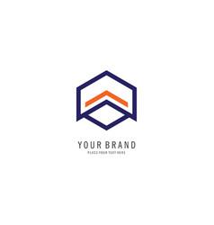 hexagon finance logo vector image