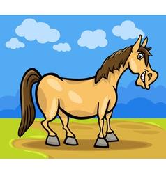 horse farm animal cartoon vector image