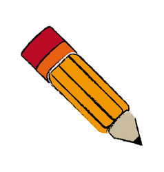 Japanese artistic pencil object traditional vector