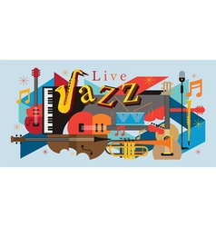 Jazz Music Instruments Background vector image vector image