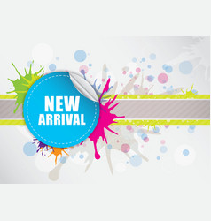 new arrival label design vector image