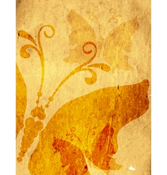 Old yellow spotty paper vector image
