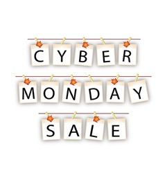 Cyber Monday Banner of Blank Photos with Maple Lea vector image vector image