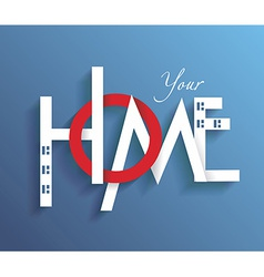Decorative letters forming word HOME vector image vector image