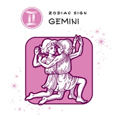 Gemini astrology sign vector