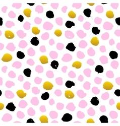Hand Drawn Dot Seamless Pattern vector image