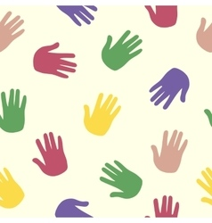 hand pattern print trace color human palm vector image vector image