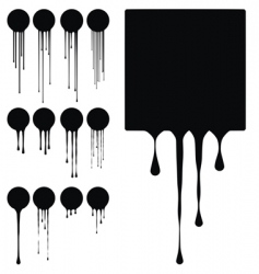 ink drips vector image vector image
