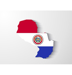 Paraguay map with shadow effect presentation vector image