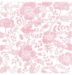 Pink textile birds and flowers seamless pattern vector image vector image