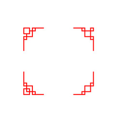 set of chinese line corner in classic style vector image vector image