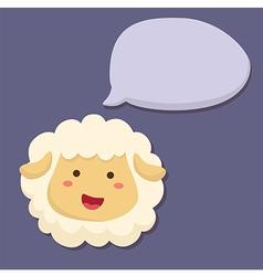 Sheep Talking Speech Bubble vector image