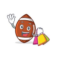 shopping american football character cartoon vector image vector image