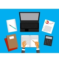 Financial examinerCompilation of a report vector image