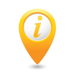 information icon yellow map pointer vector image